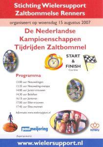 Affiche Nederlandse Kampioenschappen Tijdrijden 2007