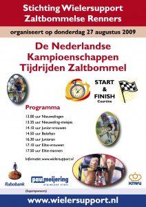 Affiche Nederlandse Kampioenschappen Tijdrijden 2009