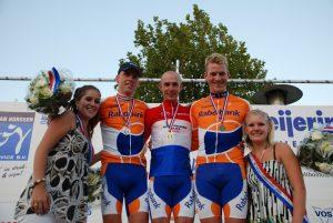 Huldiging Elite-Mannen Nederlandse Kampioenschappen Tijdrijden 2009