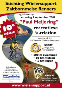Affiche Paul Meijering 10de recreatieve 1/8 triatlon 2009