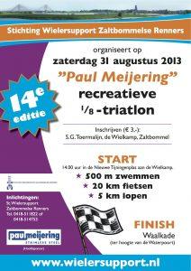 Affiche Paul Meijering 14de recreatieve 1/8 triatlon 2013