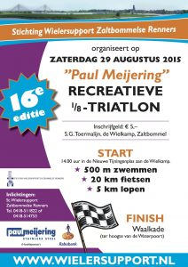 Affiche Paul Meijering 16de recreatieve 1/8 triatlon 2015