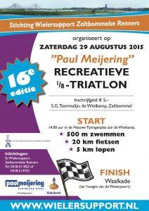 Affiche Paul Meijering 16de recreatieve 1/8 triatlon 2015