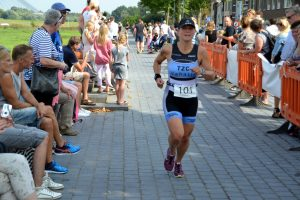 Finish Paul Meijering 17de recreatieve 1/8 triatlon 2016