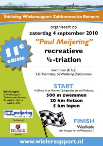 Affiche Paul Meijering 11de recreatieve 1/8 triatlon 2010