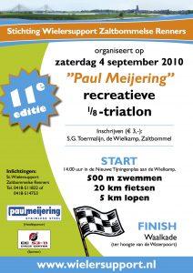 Affiche Paul Meijering 11de recreatieve 1/8 triatlon 2010