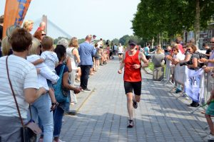 Finish Paul Meijering 18de recreatieve 1/8 triatlon 2017