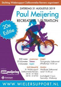 Affiche Paul Meijering 20ste recreatieve 1/8 triatlon 2019